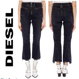 DIESEL 'D-Earlie' Black Denim Crop Women's Jeans